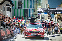 Ziga Jerman, Ziga Horvat of Slovenia at start during the Men Under 23 Road Race 179.9km Race from Kufstein to Innsbruck 582m at the 91st UCI Road World Championships 2018 / RR / RWC / on September 28, 2018 in Innsbruck, Austria.  Photo by Vid Ponikvar / Sportida