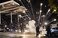 Black Lives Matter protestors and the APD clash during the 2nd night of rioting in Atlanta due to the death of George Floyd.