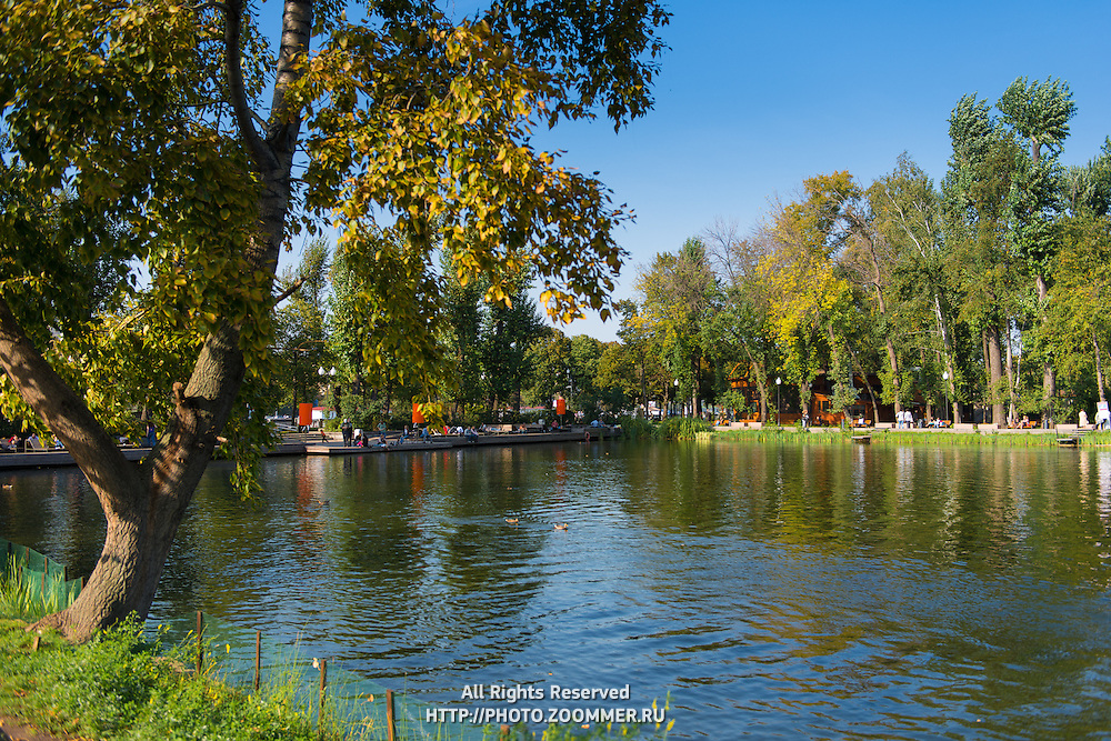 Gorky park pond, Moscow, Russia
