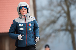February 8, 2019 - Maren Lundby of Norway warming up before first competition day of the FIS Ski Jumping World Cup Ladies Ljubno on February 8, 2019 in Ljubno, Slovenia. (Credit Image: © Rok Rakun/Pacific Press via ZUMA Wire)