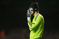 20111206: LONDON, UK - UEFA Champions league, group E: FC Chelsea vs FC Valencia.<br /> In photo: Goalkeeper Petr Cech, wearing a protective face mask.<br /> PHOTO: CITYFILES