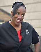 Portrait of Jackie Joyner Kersee during a tour of the urban garden at the JJK Center on Thursday, May 30, 2019 in East St. Louis, Ill. (Tim Vizer/AP Images for National 4-H Council)