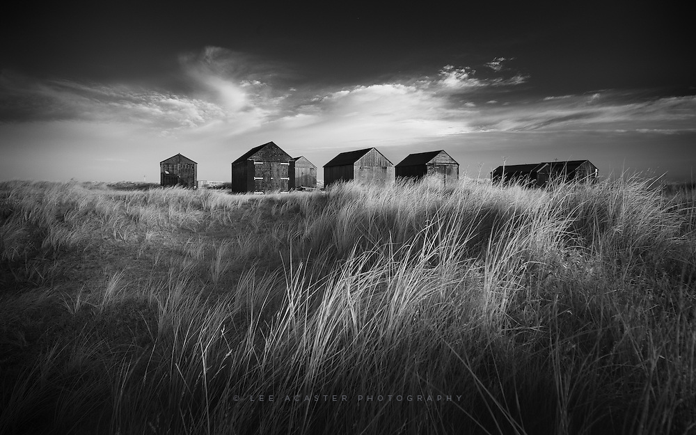 The fishing huts at Winterton-On-Sea this morning,
