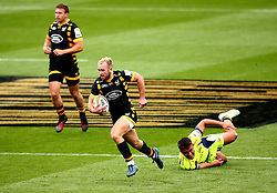 Dan Robson of Wasps runs with the ball - Mandatory by-line: Robbie Stephenson/JMP - 29/07/2017 - RUGBY - Franklin's Gardens - Northampton, England - Wasps v Sale Sharks - Singha Premiership Rugby 7s