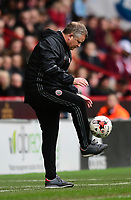 Sheffield United manager Chris Wilder controls the ball as it goes out of play<br /> <br /> Photographer Chris Vaughan/CameraSport<br /> <br /> The EFL Sky Bet League One - Sheffield United v Charlton Athletic - Saturday 18th March 2017 - Bramall Lane - Sheffield<br /> <br /> World Copyright © 2017 CameraSport. All rights reserved. 43 Linden Ave. Countesthorpe. Leicester. England. LE8 5PG - Tel: +44 (0) 116 277 4147 - admin@camerasport.com - www.camerasport.com