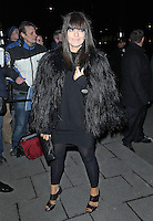 LONDON - FEBRUARY 11: Claudia Winkleman attends the Charles Finch & CHANEL Pre-BAFTA Dinner at Annabels, London, UK on February 11, 2012. (Photo by Richard Goldschmidt)