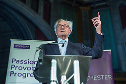 © Licensed to London News Pictures . 03/11/2014 . Manchester , UK . LORD HESELTINE ( Michael Heseltine ) delivers a speech on devolved powers , urban regeneration and his work in government following the 1981 Liverpool riots , at Manchester Town Hall this evening (Monday 3rd November 2014) . Photo credit : Joel Goodman/LNP