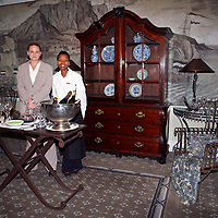 Africa, South Africa, Cape Town. Bar service on each floor at the Cape Grace.