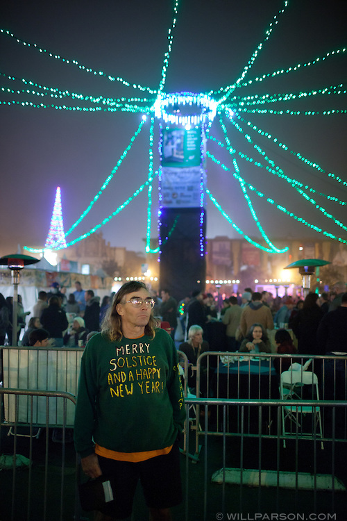 Balboa Park was immersed in a chilly fog for December Nights, Dec. 3, 2010.