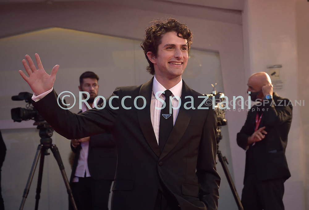 "VENICE, ITALY - SEPTEMBER 10: Dario Yazbek Bernal  walks the red carpet ahead of the movie ""Nuevo Orden"" (New Order) at the 77th Venice Film Festival on September 10, 2020 in Venice, Italy.<br /> (Photo by Rocco Spaziani)"