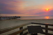Pismo Beach, California. The pier at sunset