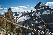 Via Ferrata at Canadian Mountain Holiday's summer adventures, British Columbia, Canada