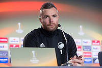 Stephan Andersen during FC Copenhague press conference day before Europa League match between Atletico de Madrid and FC Copenhague at Wanda Metropolitano in Madrid , Spain. February 21, 2018. (ALTERPHOTOS/Borja B.Hojas)