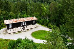King Alexander's Hunting Lodge, designed by architect Joze Plecnik in Kamniska Bistrica, on August 16, 2020 in Kamnik-Savinja Alps, Slovenia. Photo by Matic Klansek Velej / Sportida