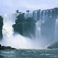 South America, Latin America, Argentina, Brazil. Iguacu Falls.