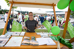 Hostess at STO stand during 5th Time Trial Stage of 25th Tour de Slovenie 2018 cycling race between Trebnje and Novo mesto (25,5 km), on June 17, 2018 in  Slovenia. Photo by Matic Klansek Velej / Sportida