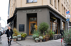 Oliv cafe in Brandy Mitte district of Berlin, Germany