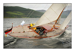 Day three of the Fife Regatta, Cruise up the Kyles of Bute to Tighnabruaich<br /> <br /> Fintra, Niklaus Waser, GBR, Bermudan Sloop 6mR, Wm Fife 3rd, 1928<br /> <br /> * The William Fife designed Yachts return to the birthplace of these historic yachts, the Scotland's pre-eminent yacht designer and builder for the 4th Fife Regatta on the Clyde 28th June–5th July 2013<br /> <br /> More information is available on the website: www.fiferegatta.com