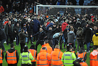 Football - 2019 / 2020 EFL Carabao (League) Cup - Semi-Final, Second Leg: Aston Villa (1) vs. Leicester City (1)<br /> <br /> Villa fans invade the pitch after their late winner in injury time, at Villa Park.<br /> <br /> COLORSPORT/ANDREW COWIE