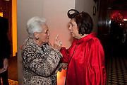ROSITA MISSONI; SUSY MENKES;  IMG HERALD TRIBUNE HERITAGE LUXURY PARTY.- Celebration of Heritage Luxury and 10 years of the International Herald Tribune Luxury Conferences. North Audley St. London. 9 November 2010. -DO NOT ARCHIVE-© Copyright Photograph by Dafydd Jones. 248 Clapham Rd. London SW9 0PZ. Tel 0207 820 0771. www.dafjones.com.