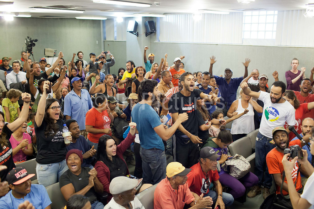 MLB protest against the planning decision to evict Isidoro, in the Government offices of Belo Horizonte. Isidoro occupation in Belo Horizonte, Minas Gerais in a large  amount of land that was occupied by the MLB, a Brazilian workers social movement, it faced eviction in July / August 2014.