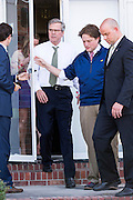 Former Florida Governor and GOP presidential candidate Jeb Bush departs following an event with South Carolina Governor Nikki Haley March 17 29, 2015 in Columbia, South Carolina.