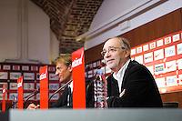 Michel Seydoux / Herve Renard - 26.05.2015 - Conference de Presse - Presentation du Nouvel Entraineur de Lille<br /> Photo : Andre Ferreira / Icon Sport