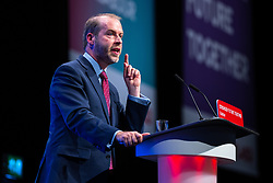 © Licensed to London News Pictures. 26/09/2021. Brighton, UK. JONATHAN REYNOLDS MP speaks in support of the new rules during a debate on new rules designed to counter anti-Semitism within the Labour Party. The second day of the 2021 Labour Party Conference , which is taking place at the Brighton Centre . Photo credit: Joel Goodman/LNP