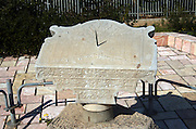 A replica of the Sundial from the EL Jazzar mosque, Acre, Israel 1786