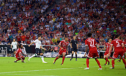 MUNICH, GERMANY - Tuesday, August 1, 2017: Liverpool's Marko Grujic scores a goal, only for it to be disallowed during the Audi Cup 2017 match between FC Bayern Munich and Liverpool FC at the Allianz Arena. (Pic by David Rawcliffe/Propaganda)