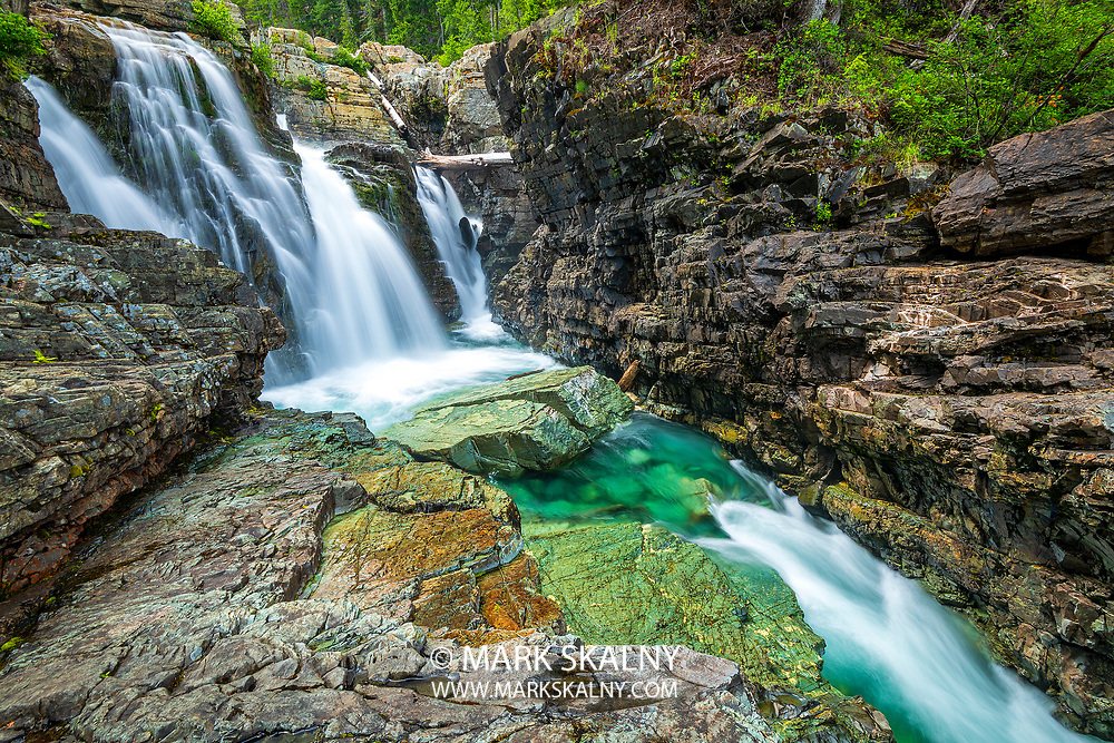View looking up towards the top of Lower Myra Falls <br /> Corporate Photography by Mark Skalny <br /> 1-888-658-3686