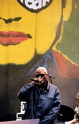 Black Grape play the T In The Park Festival at Strathclyde Country Park in 1996...