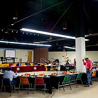 Delegates take their seats for the Navajo Nation Council meeting at the Navajo Department of Education in Window Rock Monday.