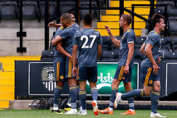 Leicester City players celebrate - Mandatory by-line: Ryan Crockett/JMP - 21/07/2018 - FOOTBALL - Meadow Lane - Nottingham, England - Notts County v Leicester City - Pre-season friendly