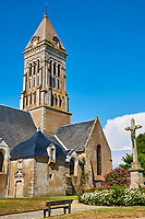 France, Vendée (85), Noirmoutier, Noirmoutier-en-l'Ile, l'église Saint-Philbert // France, Vendée, Noirmoutier, Noirmoutier-en-l'Ile, Saint-Philbert church