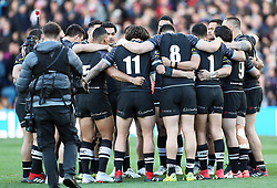 New Zealand during a huddle prior to kick-off