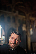 Portrait of Orthodox priest Preda Vasile after a religious service in the Orthodox Church visited by Roma and non Roma believers in the village of Marginenii de Jos. Vasile is working since a long time in the community and does not do any differences of Roma or non Roma believers.