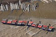 Log barge<br /> Atlantic Ocean<br /> East coast<br /> GUYANA<br /> South America