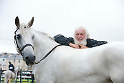 Paddy Yank McDonagh with Roundstone dawn  at the 90th Connemara Pony show in Clifden Co. Galway. Photo:Andrew Downes
