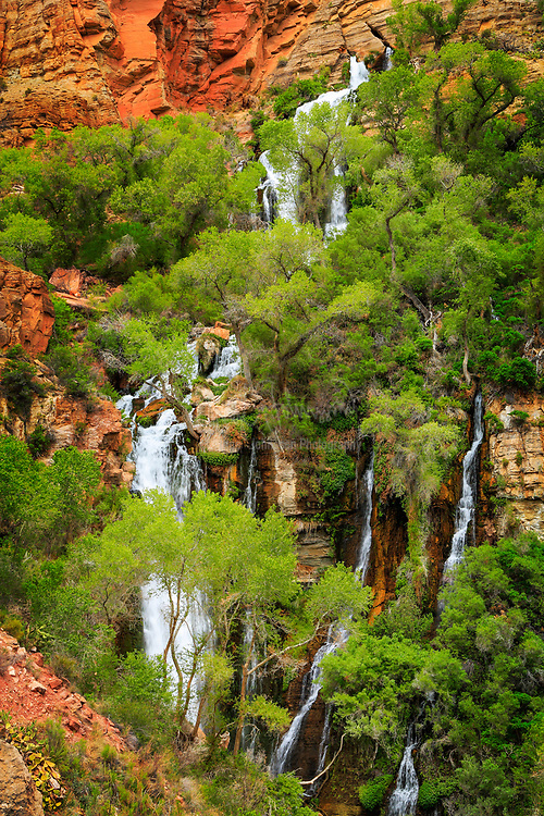 Waterfall on Thunder River, a tributary to the Colorado River in Grand Canyon National Park