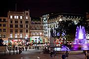 Londyn, 2009-03-05. Trafalgar Square - plac w centralnym Londynie