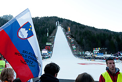 View on the hill during Flying Hill Individual at 2nd day of FIS Ski Jumping World Cup Finals Planica 2012, on March 16, 2012, Planica, Slovenia. (Photo by Matic Klansek Velej / Sportida.com)