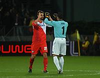 Football - UEFA Europa League - FC Utrecht vs. Steaua Bucharest - Jan Wuytens and Micehl Vorm celebrate Utrechts goal.