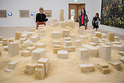 Untitled 2009 by Kader Attia made of cooked couscous - The new Tate Modern will open to the public on Friday 17 June. The new Switch House building is designed by architects Herzog & de Meuron, who also designed the original conversion of the Bankside Power Station in 2000.