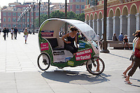 Eco cab at Place Masséna in Nice the South of France