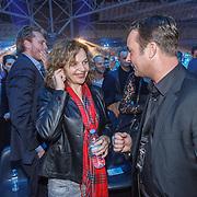 NLD/Amsterdam/20151204 - Freefightgala Glory26, minister Edith Schippers in gesprek