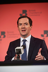 © Licensed to London News Pictures. 03/03/2016London UK. Chancellor George Osborne at The British Chamber of Commerce Annual Conference at The QE ll Conference Centre, Westminster.<br /> Photo credit : Simon Jacobs/LNP