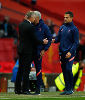 Football - 2020 / 2021 Premier League - Manchester United  vs Tottenham Hotspur - Old Trafford<br /> <br /> Ole Gunnar Solskjaer manager of Manchester United  and Jose Mourinho manager of Tottenham Hotspur at Old Trafford<br /> <br /> COLORSPORT/LYNNE CAMERON