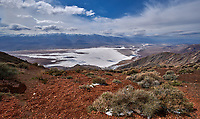 Salt Flats Panorama from Dante's View. Death Valley National Park. Composite of fifteen images taken with a Nikon D3x camera and 24 mm f/3.5 PC-E camera (ISO 100, 24 mm, f/16, 1/200 sec).