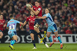 January 19, 2019 - Limerick, Ireland - Tommy O'Donnell of Munster jumps for the ball during the Heineken Champions Cup match between Munster Rugby and Exeter Chiefs at Thomond Park in Limerick, Ireland on January 19, 2019  (Credit Image: © Andrew Surma/NurPhoto via ZUMA Press)